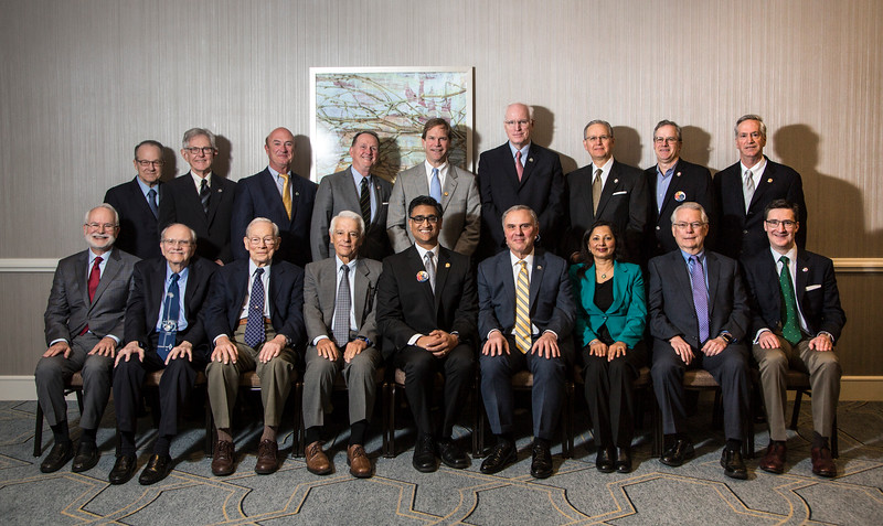 Past Chair members pose for a group portrait during BOG Past Chair Breakfast