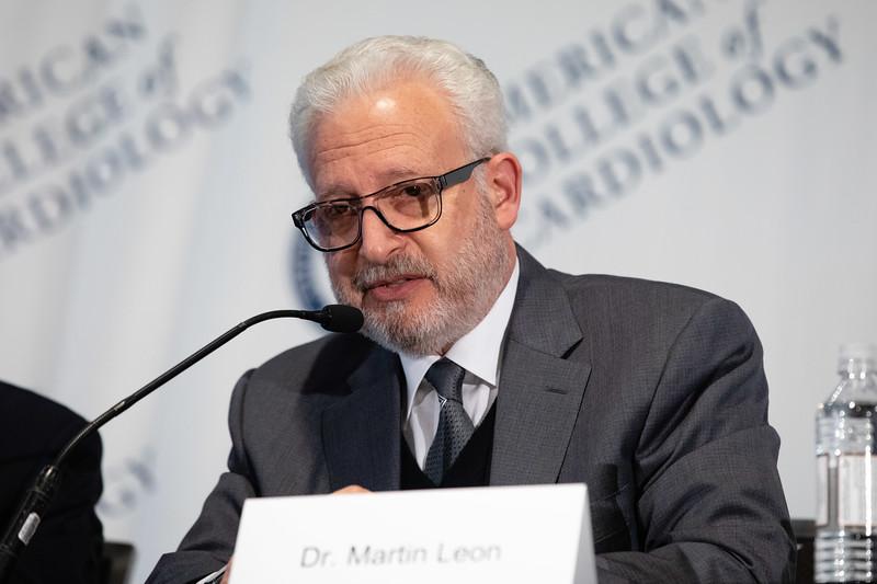Martin Leon, MD, speaks during LBCT II Press Conference