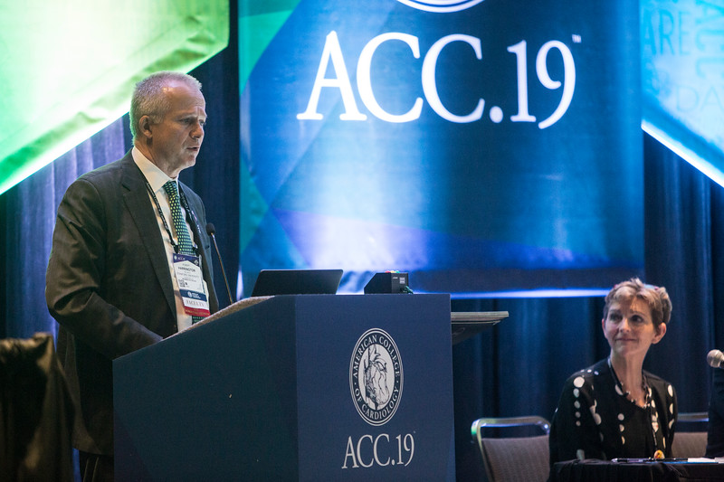 Robert Harrington, MD, FACC, FAHA, presents during Addressing Barriers to Women Entering and Advancing in Cardiology Session