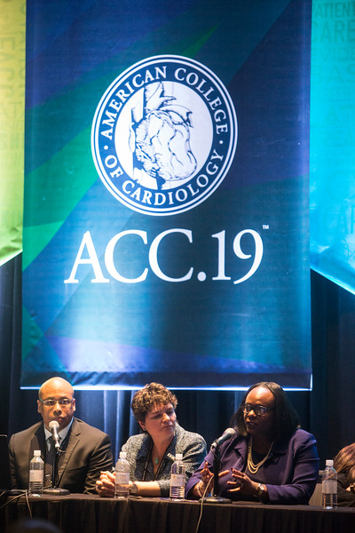 Pannelists during Addressing Barriers to Women Entering and Advancing in Cardiology Session