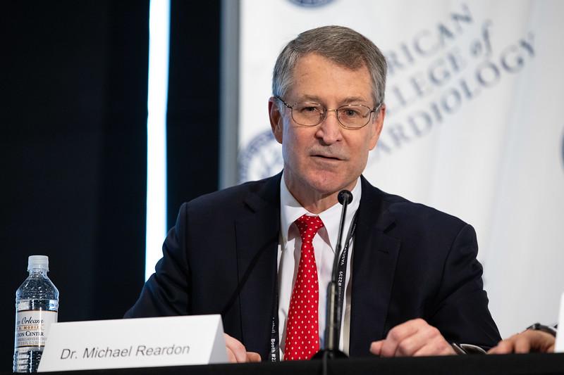 Michael Reardon, MD, FACC, speaks during LBCT II Press Conference