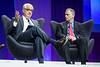 "Paul Stoffels and Harlan Krumholz speak during ""Disruption"" Panel after LBCT I"