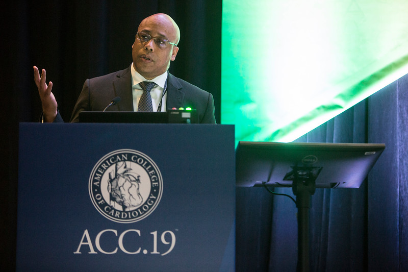 Quinn Capers, IV, presents during Addressing Barriers to Women Entering and Advancing in Cardiology Session