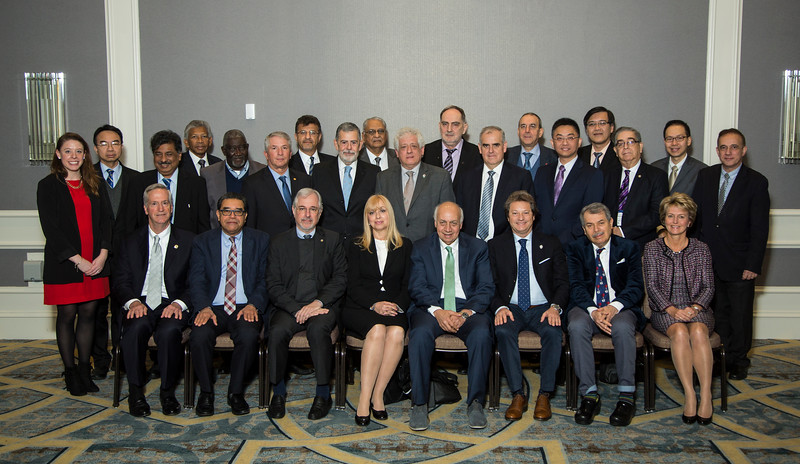 Attendees pose for a portrait during Assembly of International Governors Meeting
