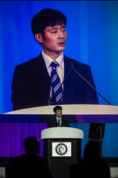 Hirotoshi Watanabe presents  during Late-Breaking Clinical Trials (LBCT) V: SAFARI-STEM, COACT, TREAT, STOPDAPT2, SMART-CHOICE