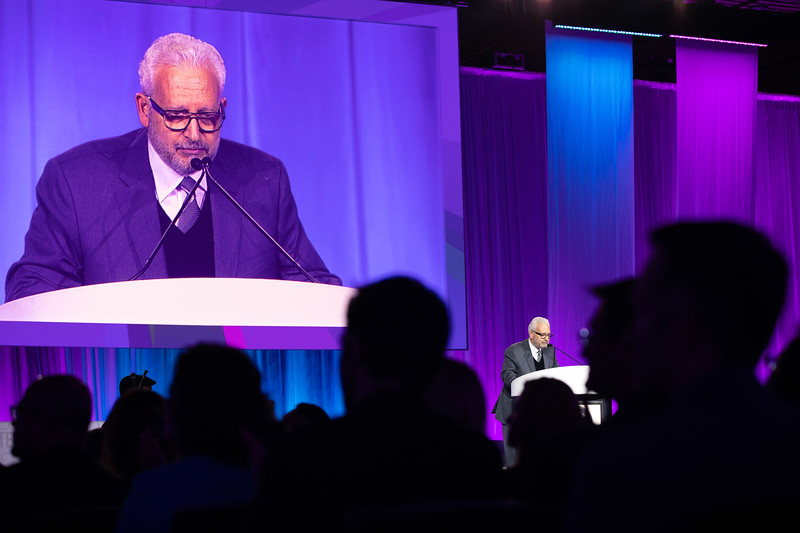 Martin Leon, MD, speaks during Late-Breaking Clinical Trials (LBCT) II