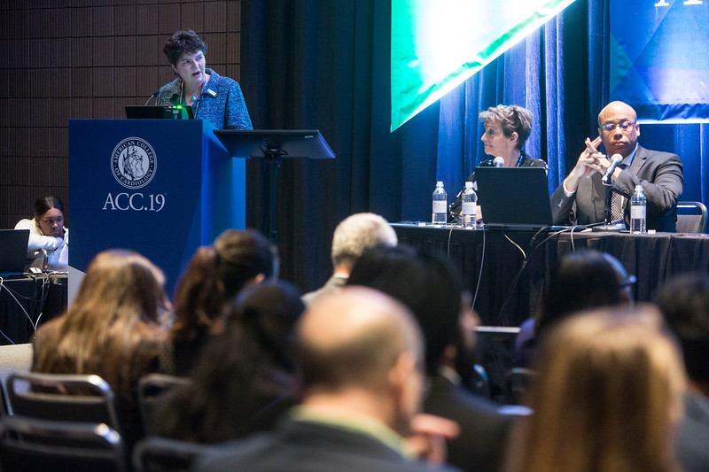 Claire Duvernoy, MD, FACC, presents during Addressing Barriers to Women Entering and Advancing in Cardiology Session