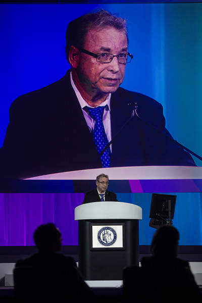 Michel Le May presents during Late-Breaking Clinical Trials (LBCT) V: SAFARI-STEM, COACT, TREAT, STOPDAPT2, SMART-CHOICE