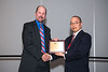 Dr. James Wrobel, left, and George Liu  during New Directions in Diabetic Foot Research (With Roger Pecoraro Award Lecture)