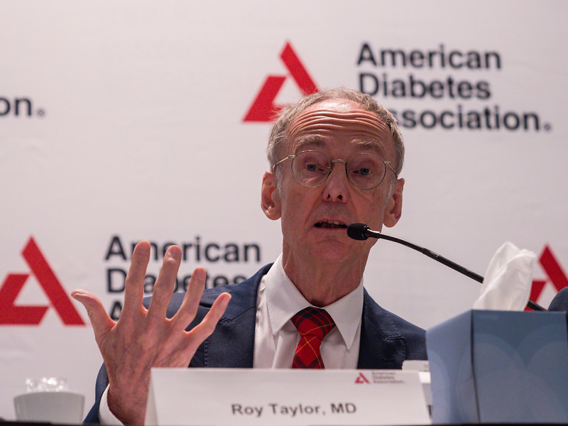 Roy Taylor, MD during Reversal and Management of Type 2 Diabetes Press Briefing