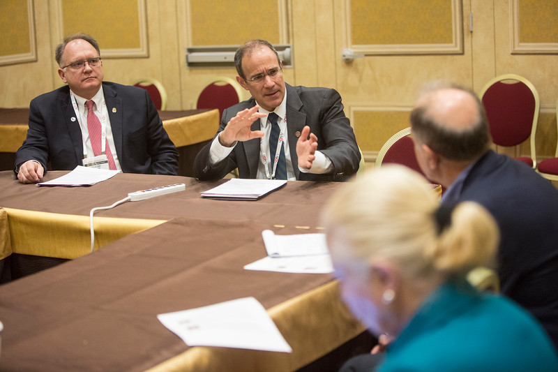 Alan S. Hilibrand, MD, MBA, speaks during a media round table on the impact of hospital consolidations on orthopaedic care