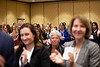 Attendees applaud as Kristy L. Weber, MD, speaks during RJOS Annual Meeting