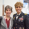 AAOS president Kristy L. Weber and U.S. Army Surgeon General Nadja West during U.S. Army Surgeon General Interview