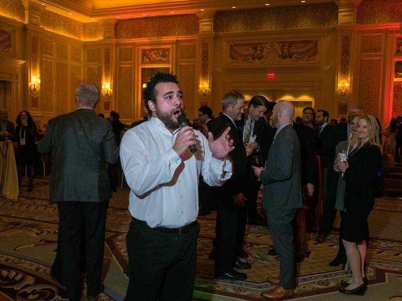 The PResidential line and attendees during President's Reception