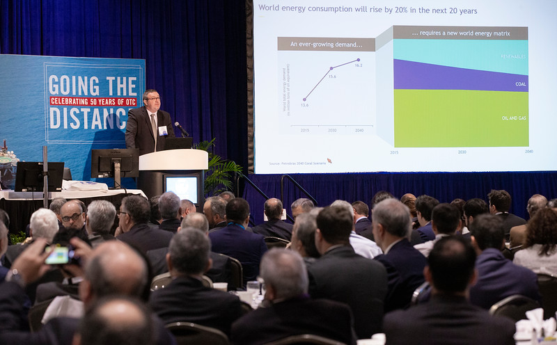 Rudimar Lorenzatto speaks during Topical Breakfast: A Turning Point for Petrobras With a New Agenda
