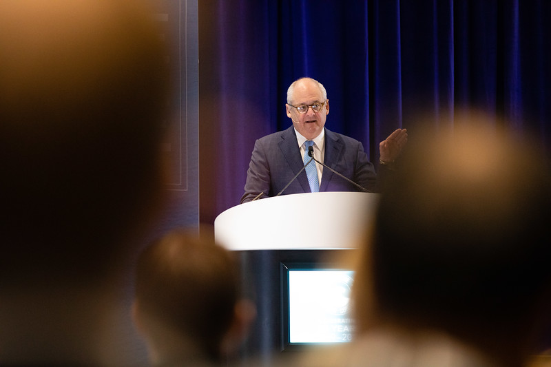 Roger W Jenkins of Murphy Oil speaks during OTC's Golden Anniversary Opening Session: The Next 50 Years of Offshore Developments