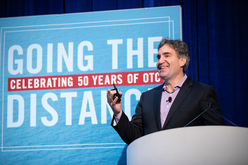 Malcolm Frank speaks during OTC's Golden Anniversary Opening Session: The Next 50 Years of Offshore Developments