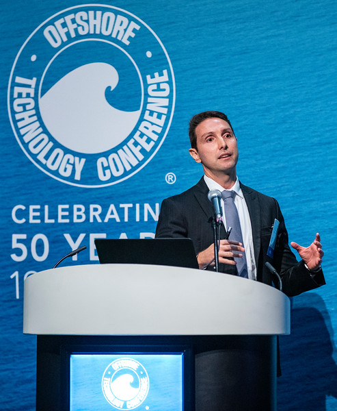 Bruno Moczydlower speaks during Technical Session: Libra EWT Project: How Technology and Strategy Overcome Challenges of a Complex Giant Offshore Field Development and its Legacy to the Industry