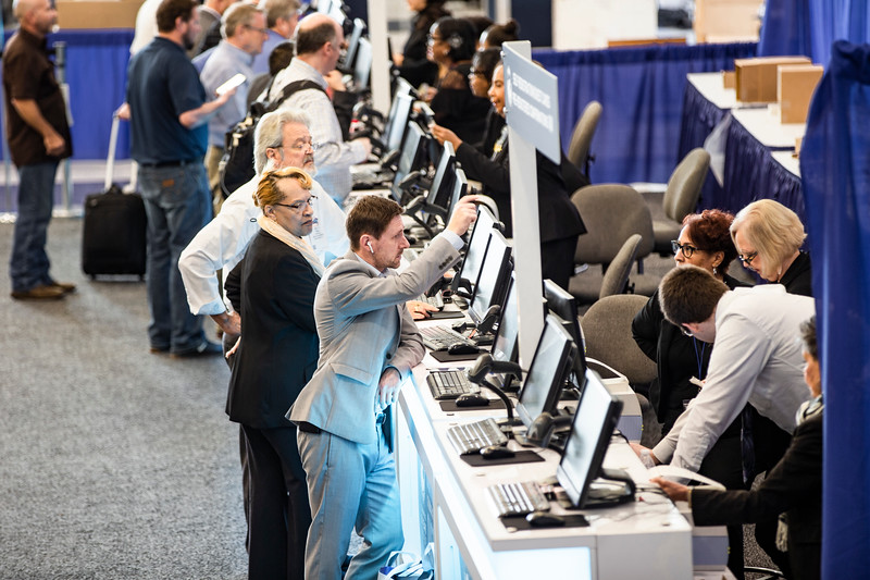Speaker name or Speaker and Attendees during Registration