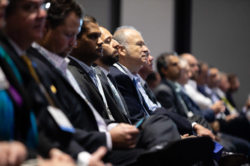 Speakers and attendees during OTC's Golden Anniversary Opening Session: The Next 50 Years of Offshore Developments