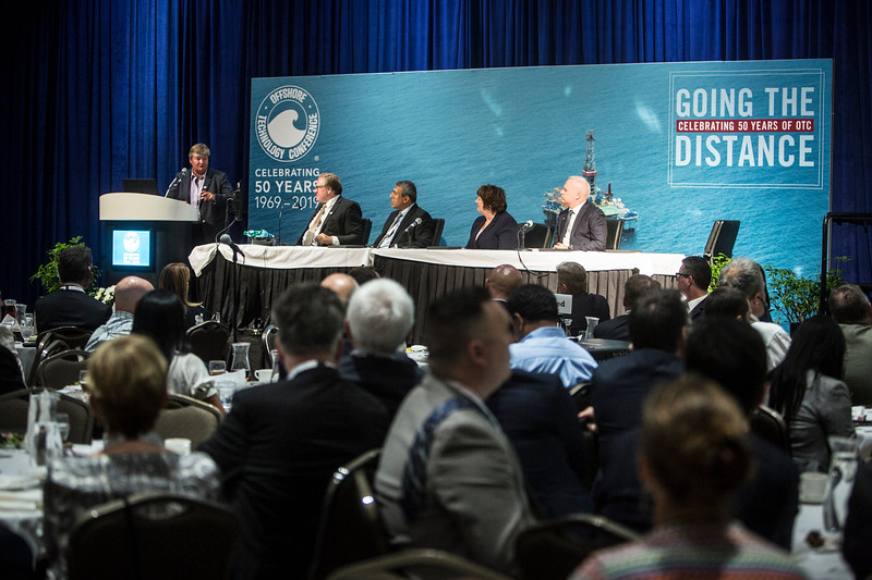 Corporate Vice President and Chief Technology Officer, NOV, Hege Kverneland, speaks,  during Topical Luncheon: The Norwegian Continental Shelf: Smarter, Cleaner, and Better Connected