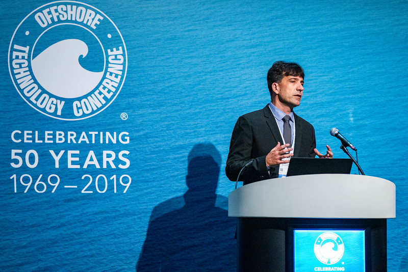 Ricardo Toneto De Melo speaks during Technical Session: Libra EWT Project: How Technology and Strategy Overcome Challenges of a Complex Giant Offshore Field Development and its Legacy to the Industry