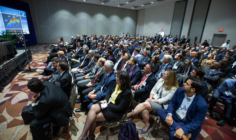 Attendees look on during Technical Session: Advances in Mooring Technology