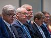 Speakers and attendees during OTC?s Golden Anniversary Opening Session: The Next 50 Years of Offshore Developments