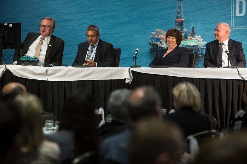 Panelists during Topical Luncheon: The Norwegian Continental Shelf: Smarter, Cleaner, and Better Connected