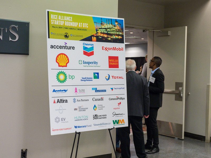 Speakers and attendees during Rice Alliance Startup Roundup
