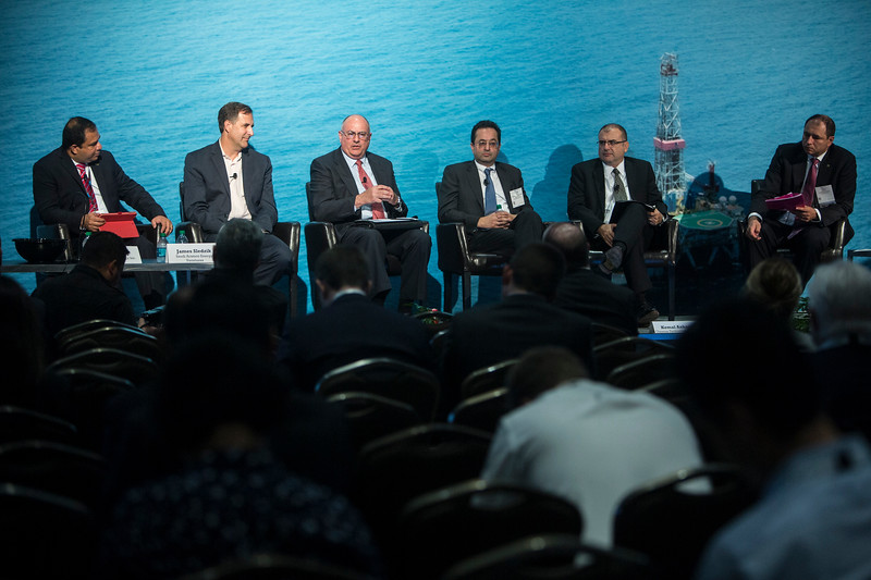 Vice President, Global Innovation, Halliburton, Greg Powers, speaks during Technical Session: Venture Capital Investment Driving Innovation in Offshore Deepwater