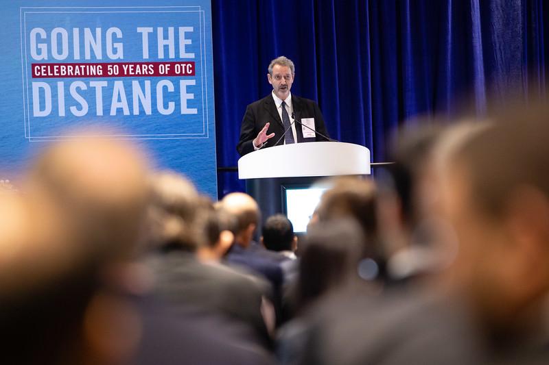Wafik Beydoun speaks during OTC's Golden Anniversary Opening Session: The Next 50 Years of Offshore Developments