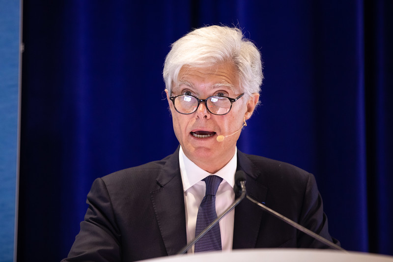 Arnaud Breuillac speaks during OTC's Golden Anniversary Opening Session: The Next 50 Years of Offshore Developments
