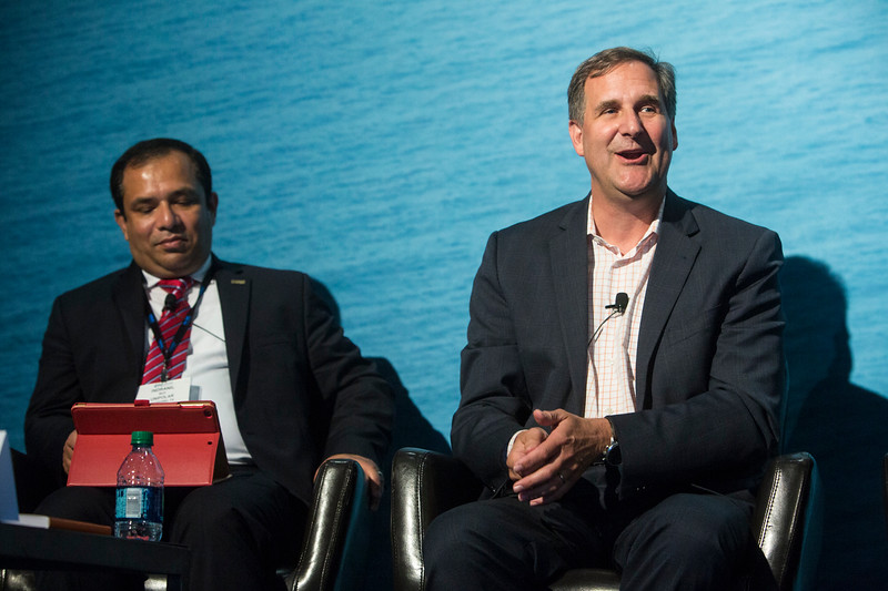 Managing Director, Saudi Aramco Energy Ventures, James Sledzik speaks during Technical Session: Venture Capital Investment Driving Innovation in Offshore Deepwater