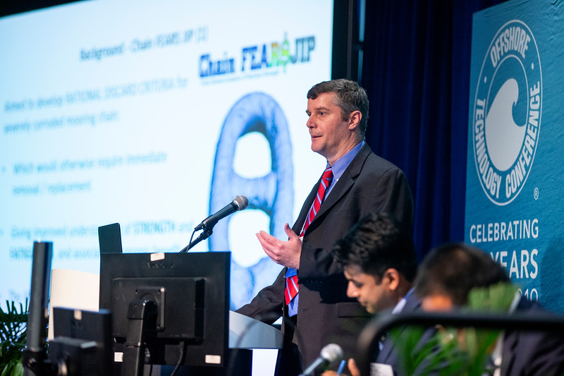 Andrew Kilner speaks during Technical Session: Advances in Mooring Technology