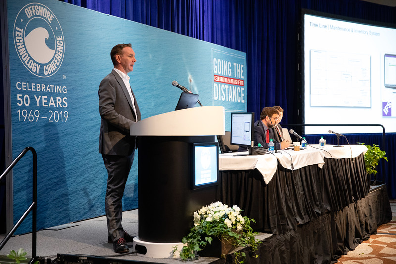Doug McEwan speaks during Topical Breakfast: Mobile Offshore Drilling Unit Reactivation