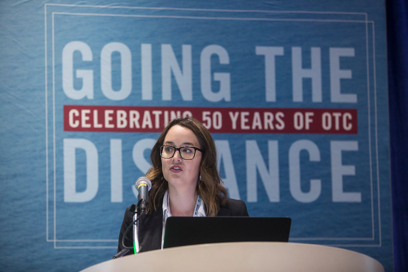 Kara E. Davis presents during Technical Sessions: Advances in Technology for Identifying and Characterizing Submerged Archaeological Resources
