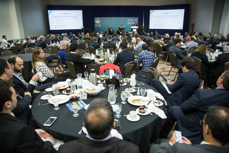 Decio Oddne speaks during Topical Luncheon: Beyond the Pre-Salt: The Transformation of Brazil's Oil and Gas Sector