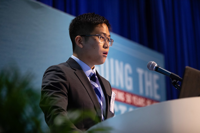 Leonard Chang speaks during Technical Sessions: Advances in Chemical EOR Technologies