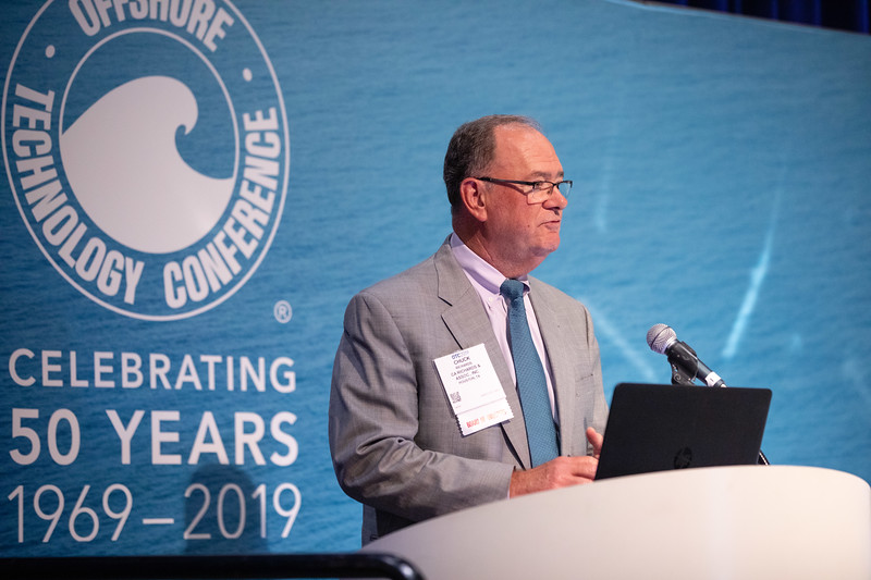 Chuck Richards speaks during Topical Luncheon: Keeping the Faith: An Independent Energy Company?s View on Why the Offshore and Deepwater Remain Critical to Meeting Future Energy Demand