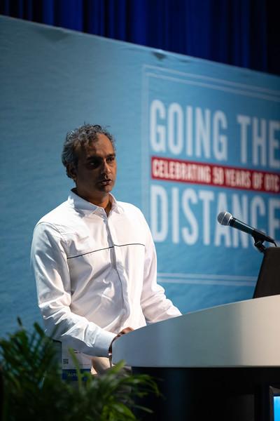 Ashwanth Srinivasan speaks during Technical Sessions: Metocean Advances