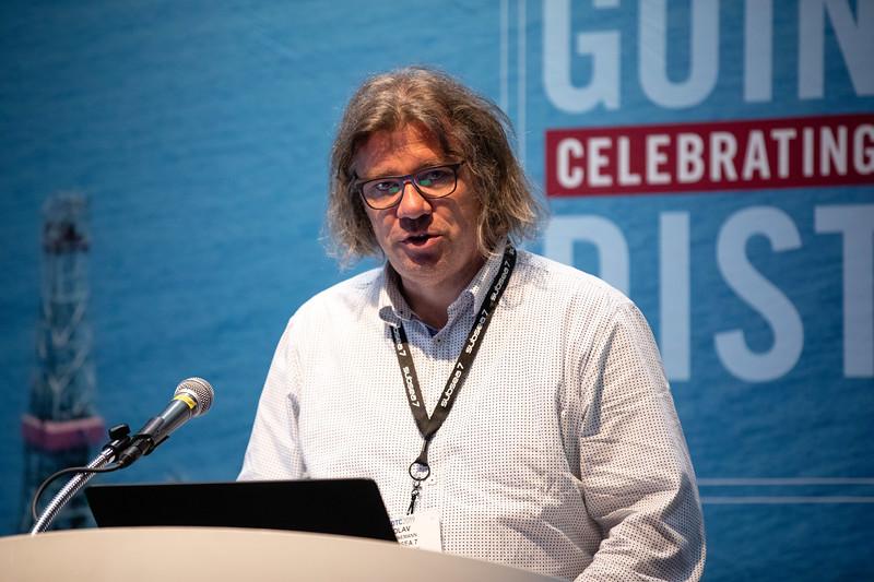 Olav Vennemann speaks during Technical Sessions: Standardization in the Offshore Industry