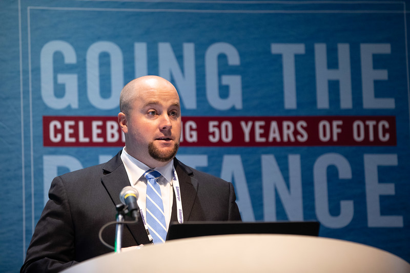 Brent Gable speaks during Technical Sessions: Standardization in the Offshore Industry