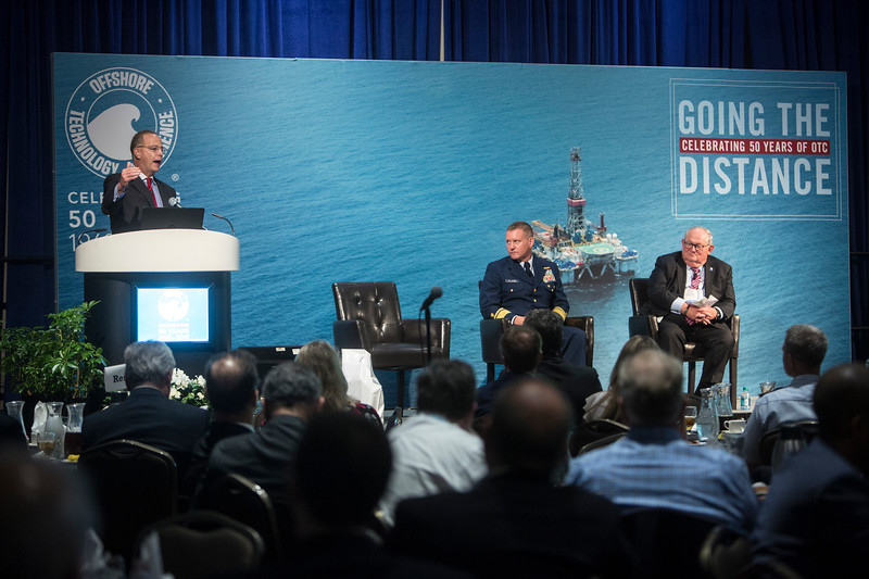 Paul Thomas speaks during Topical Luncheon: Center for Offshore Safety: Digitalization and New Technology: Senior Regulatory Leadership Perspectives