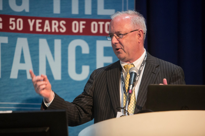 Andy Hawthorn speaks during Technical Sessions: Advances in Smart Completion Technologies