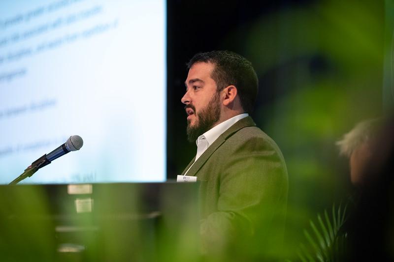 Eric Grzelak speaks during Technical Sessions: Next Generation Deepwater Development Concepts