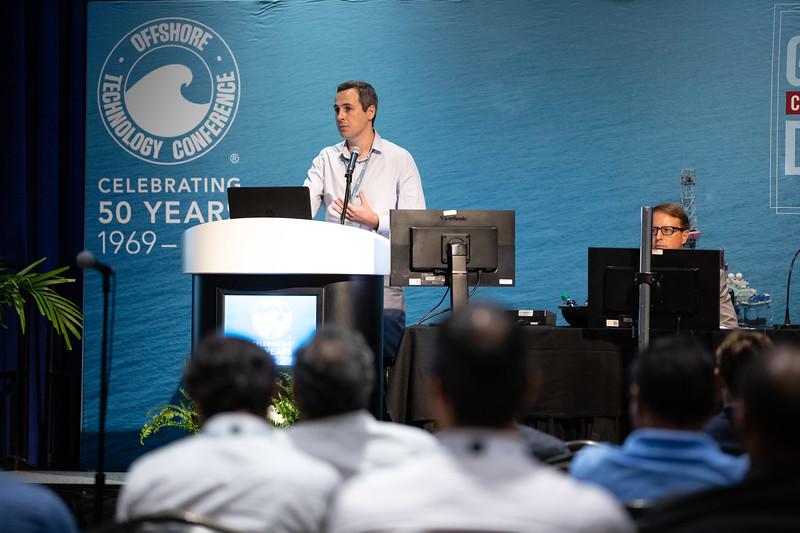 Rafael Schiller speaks during Technical Sessions: Metocean Advances