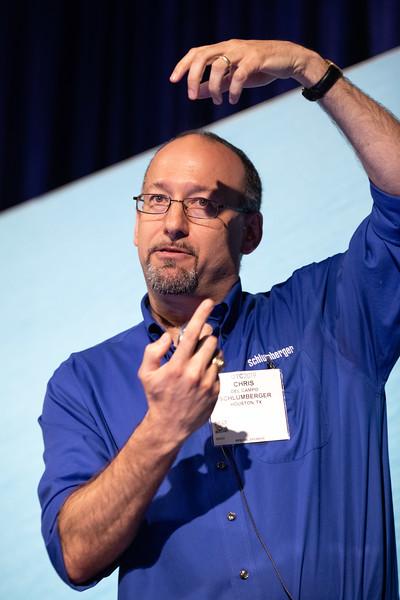 Chris Del Campo speaks during Energy Education Institute: Teacher Workshop