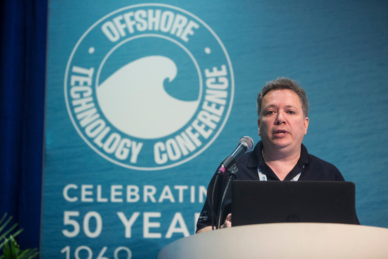 Mike Morrow presents during Technical Sessions: Advances in Offshore Marine and Hydrokinetic Energy