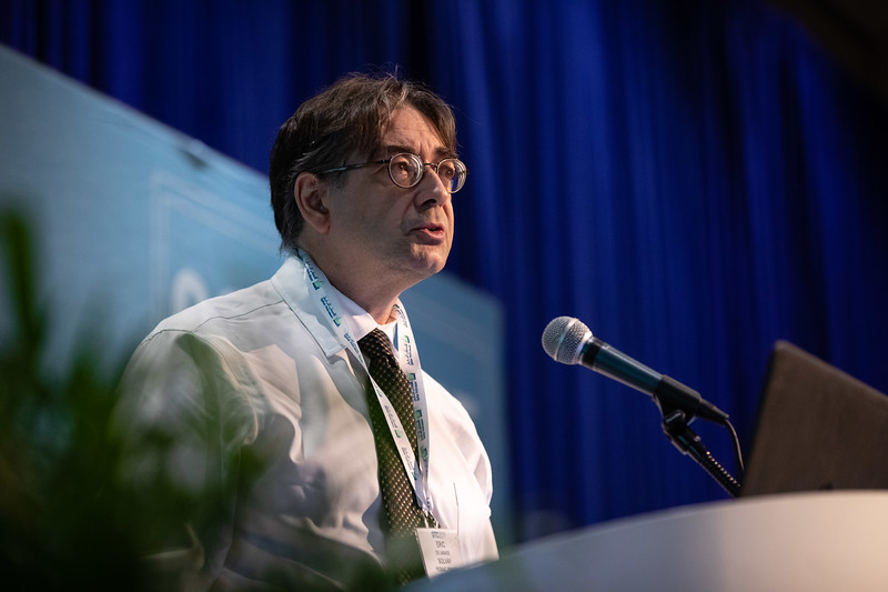Eric Delamaide speaks during Technical Sessions: Advances in Chemical EOR Technologies